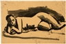 David Park, Reclining Female Nude (No. 353)