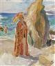 Henri Lebasque, Femme à l'ombrelle sur la plage