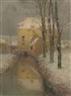 Henri Eugène Augustin le Sidaner, Le canal, neige