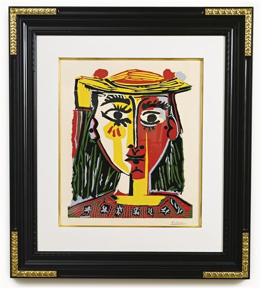 Picasso Pablo   Buste de Femme au Chapeau (1962)   MutualArt