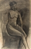Constant Permeke, Seated nude