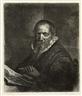 Rembrandt van Rijn, Jan Cornelis Sylvius, Preacher