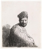 Rembrandt van Rijn, Bearded Man in a Furred Oriental Cap and Robe: The Artist's Father