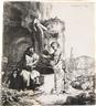 Rembrandt van Rijn, Christ and the Woman of Samaria among Ruins
