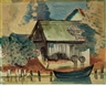 Max Pechstein, Mill and Rowboat, Possibly in Rowe