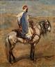 Henri Rousseau, CAVALIER à LA CAPE BLEUE HORSEMAN WITH A BLUE CLOAK