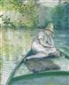Gustave Caillebotte, CANOTIER SUR L'YERRES