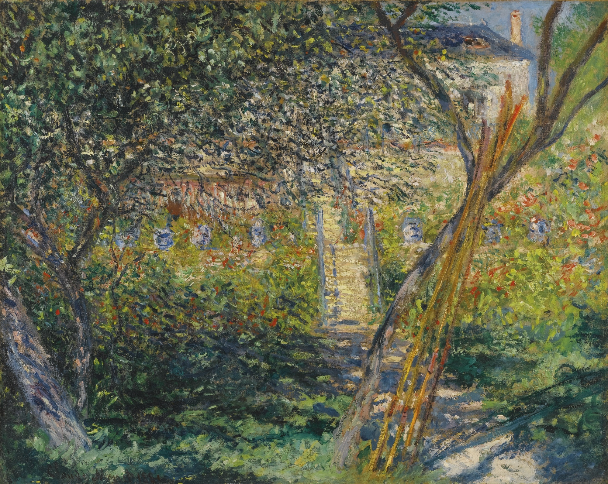 artwork by claude monet le jardin de v theuil made of oil on canvas. Black Bedroom Furniture Sets. Home Design Ideas