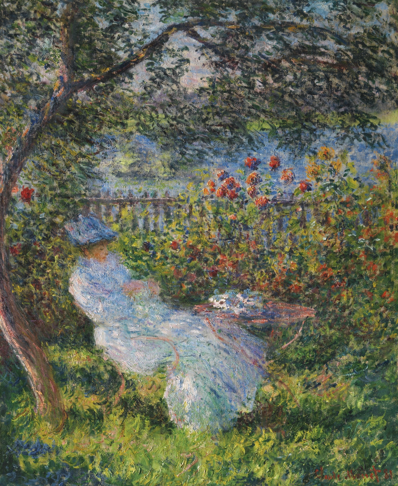Claude monet alice hosched au jardin 1881 oil for Au jardin d alice