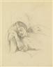 Balthus, ÉTUDE POUR LE RÊVE II (RECTO); ÉTUDE POUR LA GUITARE (VERSO)