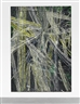 Mark Grotjahn, UNTITLED (GREY WHITE AND YELLOW LINED OVER BLUE GREEN FACE 809)