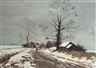 Roy Petley, Figures on a road in winter