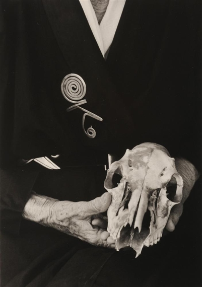 Artwork by Bruce Weber, Georgia O Keeffe, Hands with Skull, Ghost Ranch
