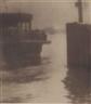 Karl Struss, Ferryboat landing East River, New York