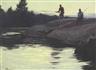 Odgen M. Pleissner, Fishermen on a Rock