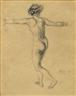 Franz von Stuck, FEMALE NUDE, SEEN FROM BEHIND