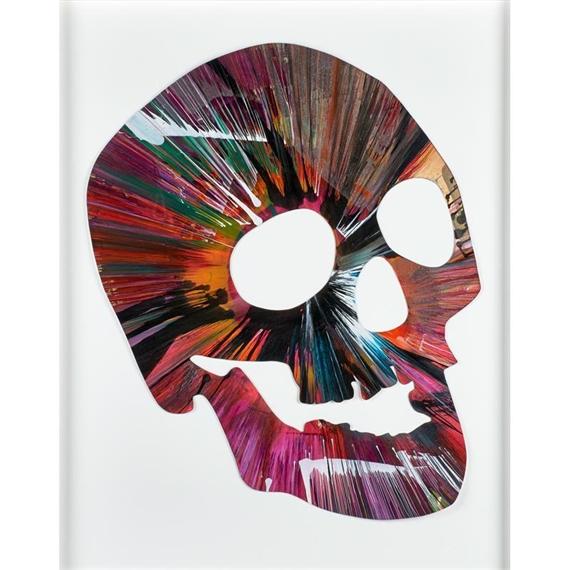 Hirst Damien Skull Spin Painting Created At Damien Hirst Spin Workshop 2009 Mutualart