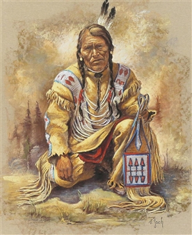 BLUE BIRD, BLACKFOOT By Vilem Zach