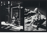 Ray Metzker, Double frame: Woman standing, woman sitting ] 68 CO/69 EM