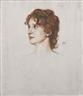 Franz von Stuck, Portrait of a young woman, en profil