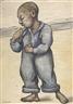 Diego Rivera, NIÑO RAPADO EN OVEROL