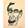 Ben Shahn, Three works: Lincoln; Clown on Horse; Einstein