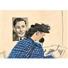 Ben Shahn, 3  works: Exhibition announcement for Fogg Museum; 2 Untitled