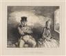 Honoré Daumier, En Chemin de Fer .. Un Voisin agréable