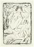 Otto Mueller, Sitzende, von Blattwerk Umgeben (Helle Fassung)