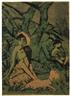Otto Mueller, Lagernde Zigeunerfamilie mit Ziege