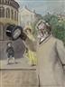 Christian Krohg, Portrait of Henrik Ibsen on Karl Johan Street