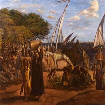 AU BORD DU NIL By Emile Bernard ,1900