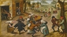 Pieter Brueghel the Younger, A VILLAGE STREET WITH PEASANTS DANCING