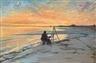 Peder Severin Krøyer, Painter on Skagen beach, new moon