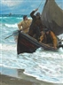 Peder Severin Krøyer, Fishermen homeward bound taking in the sails