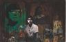 Kurt Henning Trampedach Sørensen, Composition with Portrait of Asta Nielsen and Paul Gauguin's Vahine No te Tiare 1891