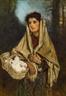 Anton Romako, Mädchen mit Tauben im Korb