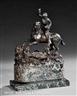 Continental School, 19th Century, A Continental Renaissance Style Equestrian Bronze