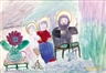 Clementine Hunter, It's the Way Christmas Time Was Once: The Holy Family