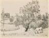 Friedrich Ahlers-Hestermann, Flusslandschaft mit grasendem Pferd