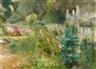 Max Liebermann, The Perennial Garden in the Wannseegarten to the North West