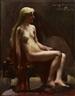 Lovis Corinth, Sitzender weiblicher Akt