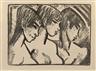 Otto Mueller, Drei Mädchen im Profil (Drei Mädchenköpfe)
