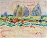 Heinrich Nauen, Landschaft mit Heudiemen