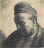 Rembrandt van Rijn, A beardless Man in a Fur Cloak and Cap: Bust