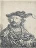 Rembrandt van Rijn, Self Portrait in a Velvet Cap with Plume