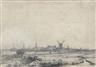 Rembrandt van Rijn, View of Amsterdam from the Kadijk