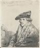 Rembrandt van Rijn, Young Man in a Velvet Cap (Petrus Sylvius?)