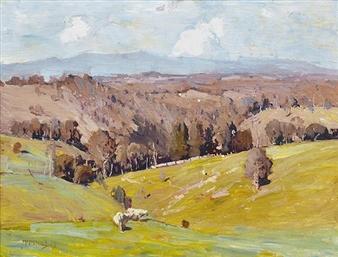 Cattle in Landscape By W.B. McInnes