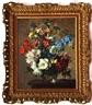 Stuart Scott Somerville, Still Life Study of Mixed Flowers in a Vase